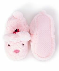 Stride Rite Girl's Light Pink Fuzzy Bunny Slippers Size M 9-10 New With Tags