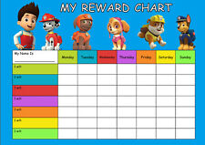 Paw Patrol Re-usable Reward Chart (including FREE Star Stickers and Pen)