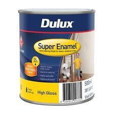 Dulux Super Enamel 500ml High Gloss Vivid White Enamel Paint