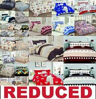REDUCED TO CLEAR Duvet Quilt Cover, Fitted/Valance Sheet & Pillowcase Bed Sets