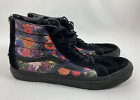 VANS Off the Wall Sk8-Hi Black Hawaiian Floral High Top Shoes Zip M 8.5 W 10