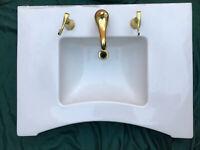 Cool Vintage 1957 Mid Century Modern Bathroom Sink D