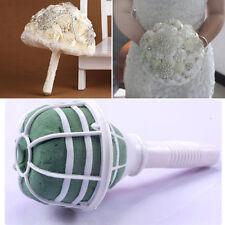 6x DIY Bride Bouquet Holder Decoration Bridal Wedding Floral Foam Flower Handle