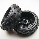 Front Off Road Knobby Tyre Wheel Kit for HPI Baja 5B KingMotor SM