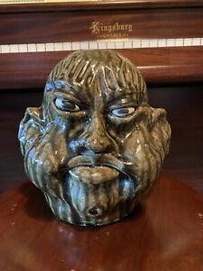 "Clete Meaders ""Ethel Poothead"" Custom Face Jug 1993 Georga Folk Art"