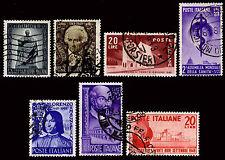 1949 ITALY #519-24 - WATERMARK 277 - USED - VF - CV$57.75 (ESP#1461)