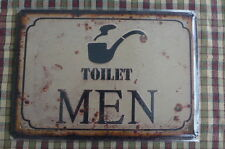 Man Toilet Design Metal Sign Painted Poster Wall Decor Art Home Shop Pub Club
