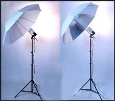 DMKFoto 2 Strobe Kit for Home Studio Complete with Umbrellas and Stands