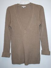 Gap Sweater Women's Beige Sz L V Neck Pull over Long Sleeve Acrylic Nylon Angora