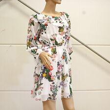 LIU JO Kleid weiss florale Muster und der Volant Gr. 40 ( ital.46 ) Impressionen