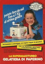 X2481 Gelatiera di Paperino - Super Maxi Turbo - Pubblicità 1989 - Advertising