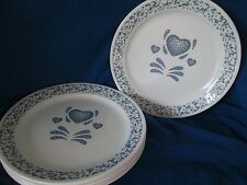 Corelle Blue Heart DESSERT/PIE PLATE -set of TWO 2 *have more pieces to this set