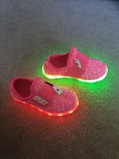 Light Up Girls Shoes. Rechargeable. Flashing. Junior size 7
