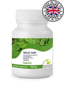 Wild Yam 500mg Vegetarian Tablets Diosgenin Estrogen Bottle x 250