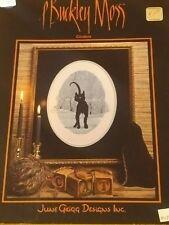 P. BUCKLEY MOSS CROSS STITCH BLACK CAT CINDERS 116 RARE CHART
