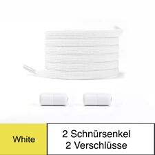 Schnürsenkel elastisch ohne Binden Schnellverschluss  Neu weiß