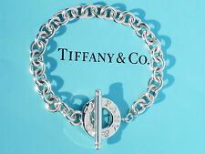 Tiffany & Co Toggle Charm Sterling Silver 7.5 Inch Bracelet - (Ideal for Charms)