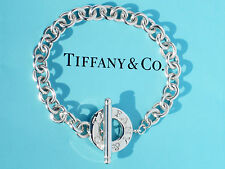 Tiffany & Co Sterling Silver 925 Toggle Charm Bracelet - (Ideal for Charms)