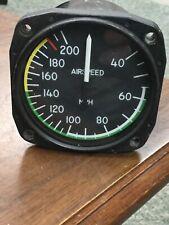 Cessna L-19 305A Airspeed Indicatir United Instruments P/N 8000