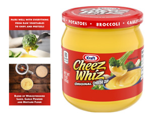 NEW Cheez Whiz Original Cheese Dip, 15 Oz Jar, Pairs Well With Everything