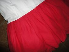 """Rooms That Rule Twin Ruffled Bedskirt Red Crisp Cotton 14"""" Drop"""
