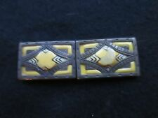 ART DECO CLASSIC DESIGN PLASTIC/METAL  BELT BUCKLES MADE IN CZECHOSLOVAKIA