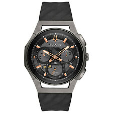 Bulova Quartz Men's Curv Chronograph Titanium Black 44mm Watch 98A162
