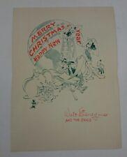 WALT DISNEY STUDIO 1941 CHRISTMAS CARD