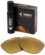 Polarized IKON Iridium Replacement Lenses For Oakley Jupiter 24K Gold Mirror