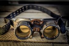 Handmade Steampunk Goggles Leather Metal Steam Punk COSPLAY Gothic Victorian #15