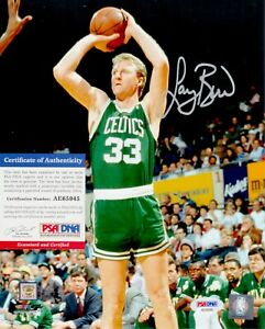 Larry Bird Boston Celtics Signed Autograph 8 x 10 Photo PSA DNA AE65945