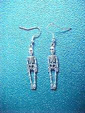 Dangle Earrings Skeleton Miniature Metal Halloween