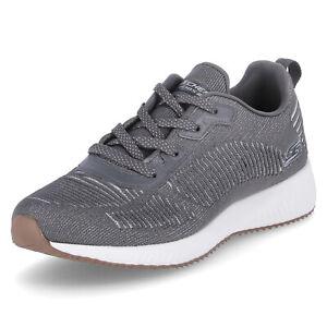 Skechers Bobs Sport Damen Low Sneaker BOBS SQUAD GLAM LEAGUE grau Textil