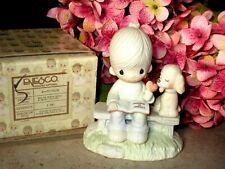 Love Is Sharing Boy & Dog Figurine Enesco Precious Moments E-3110/B Valentine's