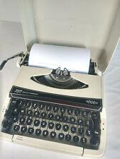 Smith Corona SCM XL Vintage Retro Portable Typewriter Cream in Hard Case