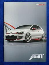 ABT Golf VII - VW Golf TSI TDI GTI TDI - Prospekt Brochure 2012