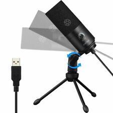 USB Mikrofon PC Laptop Mikrofon Kondensator Mikrofone + Ständer Studioqualität