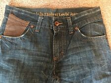 Men's Levi's Low Loose With  Leather Trim Size 29X32 Dark Denim
