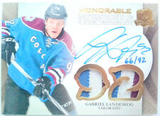 4 clrs /92 GABRIEL LANDESKOG THE CUP HONORABLE NUMBERS PATCH AUTO UD 2011 11 12