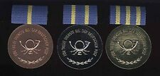 DDR B.0180-0182 Medaillen Treue Dienste Post komplett
