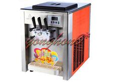 2+1mix Flavor Commercial Soft Ice Cream Machine Twist Soft Ice Cream Maker 220V
