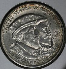 Nice Uncirculated 1924 Huguenot Silver Commemorative Half Dollar!