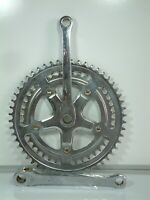 Vintage - Chromed Cottered Double Chainset 52/ 42 Teeth 165 mm Cranks - Raleigh