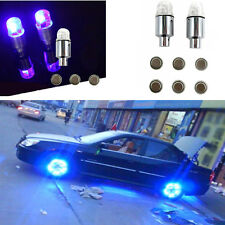 Universal 4 Pcs Blue LED Autos Wheel Tyre Tire Air Valve Stem Cap LED Light Lamp