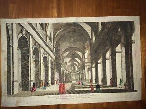 Vue D'optique : Intérieur De L'Eglise Royale De St-Louis À Versailles, XVIIIème.