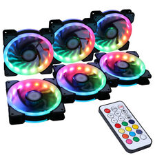 6PCS RGB  LED RF  Controller Remote Control Cooling computer case fans