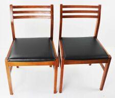 Pair of Retro Danish Style Teak Dining Chairs [5436]