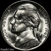 1945-P Jefferson Silver War Nickel 5c ~ BU Uncirculated ~ LUSTER! US Coin