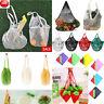 Reusable Shopping Grocery Bag Cotton Tote Mesh Net String Woven Mesh Bag Shopper