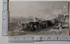 C1860 antica stampa ~ EL KEF SICCA UMBRIA Tunisia